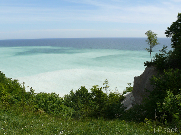 Møns Klint and the magnificient colour of the ocean